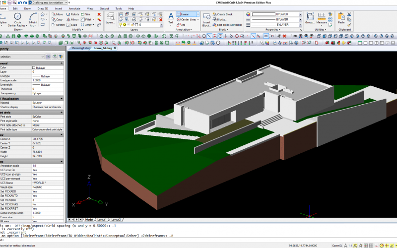 New CMS IntelliCAD 8.3 Premum Edition Compatible CAD Software released